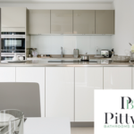 Two tone kitchen at King's Hollow by Pittville Bathrooms & Kitchens